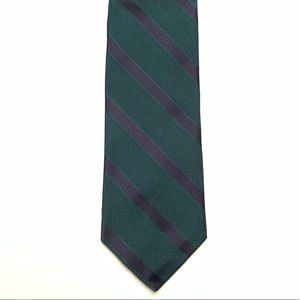 Robert Talbott Carmel Green Navy Striped Tie